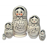 Nesting doll prepared for paint, akril 35  (prepared for paint)