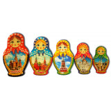 Magnet resin 02-34N2-19 set Matryoshkas Moscow pitch