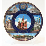 Plate 10-K6-19 Moscow collage St.Basil Cathedral D10
