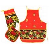 Textiles Set 3 pcs. Khokhloma  (A30001)