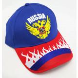 Headdress Baseball cap Coat of arms of Russia, blue top, red visor