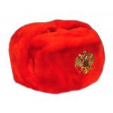 Headdress fur hat Soldier's artificial red fur 58-59-60-61-62