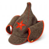 Headdress budenovka Bydenovka Cap of the revolutionary soldier