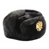 Headdress fur hat Soldier's artificial black fur 58-59-60-61-62
