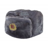 Headdress fur hat Soldier's artificial grey fur 58-59-60-61-62