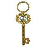 Brelok 125GBI-8-21-1S Key Chain metal Moscow, Spassky tower, colour...