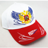 Headdress Baseball cap Russia, Russian coat of Arms, white top, red...