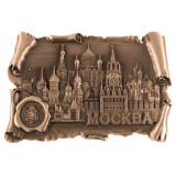 Magnet metal 027-4CU-19k24 scroll with print Moscow Cathedrals brazen