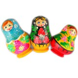 Magnet wooden matreshka in assortment