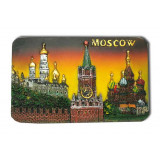 "Magnet polyresin 022-08-19K7-Y rectangular relief ""Moscow..."