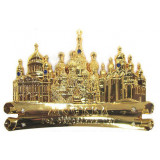 Magnet metal 027-1GBI-19K35 scroll Moscow cathedrals gold