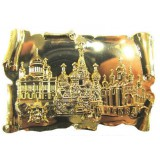 Magnet metal 027-2GBI-19K35 Glossy scroll Moscow Cathedrals gold