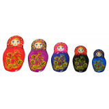 Magnet resin 02-34N1-4F-EVA Set of magnets pitch a nested doll 5...