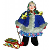 Doll handmade copyright Galina Maslennikova A2-7 A girl with sledges