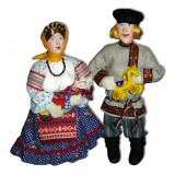 Doll handmade copyright Galina Maslennikova D9 Peasant's family...