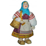 Doll handmade copyright Galina Maslennikova A2-8 Girl with basket