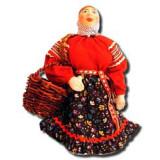 Doll handmade copyright Galina Maslennikova A2-5 Mariya with a basket