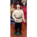 Doll handmade average The Cossack in the white