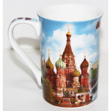 Brelok 061-19 bone porcelain, Moscow, St. Basil's Cathedral