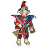 Doll handmade copyright Galina Maslennikova SKMM Russian skomorokh boy