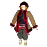 Doll handmade copyright Galina Maslennikova A1-16 A boy in a winter...