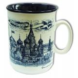 """Mug 060-22 porcelain """"Moscow. Quay"""" cobalt"""