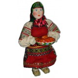 Doll handmade copyright Galina Maslennikova A2-14 Woman with pies