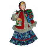 Doll handmade copyright Galina Maslennikova A2-4 Mariya with a bucket