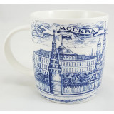 Mug 060-2-22 Porcelain, drawing dark blue, Moscow, quay