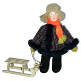Doll handmade copyright Galina Maslennikova A2-16 A Boy with a sledge