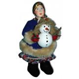 Doll handmade copyright Galina Maslennikova A2-22-1 Girl with Snowboll