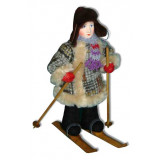 Doll handmade copyright Galina Maslennikova A2-23-1 Boy on a skis