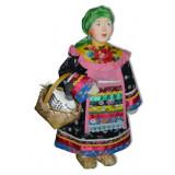 Doll handmade copyright Galina Maslennikova SKMD-1 Frosia with a goose