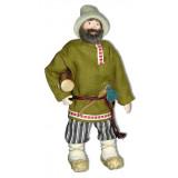 Doll handmade copyright Galina Maslennikova A2-39 Man with a log