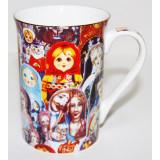 "Brelok 061-34-245 Mug decorative, porcelain, ""Nested doll""."