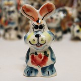 Majolica Hare, ears upwards