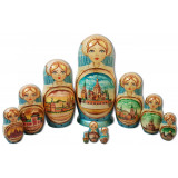 Nesting doll 10 pcs. Architecture