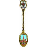 Spoon 222-S-21-1 metal with inside Moscow Spassky tower