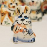 Majolica Hare with a carrot