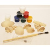 Creativity kit Wood, a set for creativity (magnets, paints, a brush...