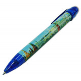 Pen !464-17-B souvenir Moscow the Panorama dark blue