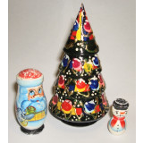 New Year and Christmas matrioshka nesting doll 3 pcs. Christmas tree
