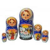 Nesting doll 5 pcs. 7912