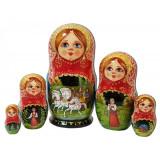 Nesting doll 5 pcs. 7913