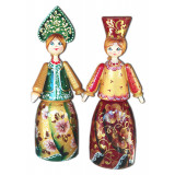 Doll handmade wooden With a kokoshnikl 14 sm,  handmade, handpainted