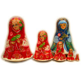 Nesting doll Sergiev-Posad 5 pcs. Triangular rose
