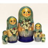 Nesting doll Sergiev-Posad 5 pcs. Spring