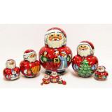 Nesting doll Sergiev-Posad 10 pcs. Santa Claus 12
