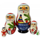 New Year and Christmas matrioshka matrioshka 5 pcs...