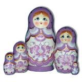 Nesting doll Sergiev-Posad 5 pcs. Gzgel Pink
